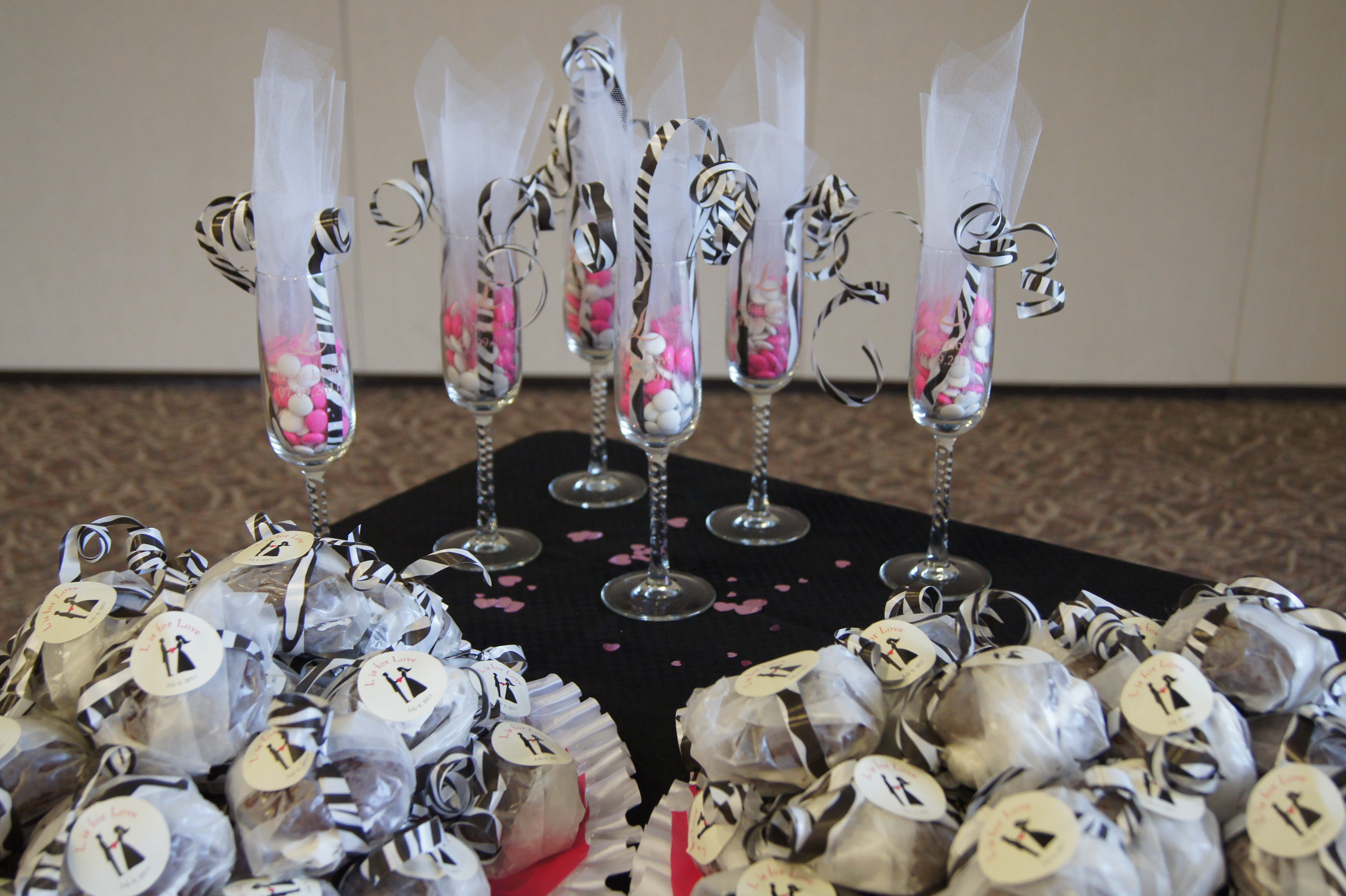 Zebra Print Bridal Shower Favors DIY